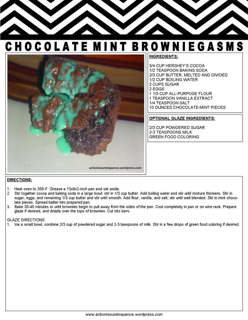 CHOCOLATE MINT BROWNIEGASMS